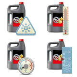 Vector Winter Oil Icons Stock Photos