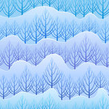Vector winter pattern Stock Images