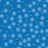 Vector winter pattern with snowflakes Stock Photos
