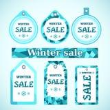 Vector. Winter sale Stock Photos