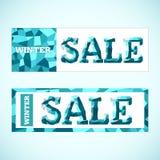 Vector. Winter sale Royalty Free Stock Photos