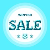 Vector. Winter sale Royalty Free Stock Photo