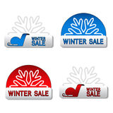 Vector winter sale board Stock Images