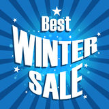 Vector of Winter sale poster Royalty Free Stock Photo