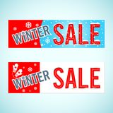 Vector. Winter sale Stock Photography