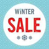 Vector. Winter sale Stock Images