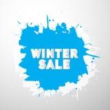 Vector Winter Sale Title on Blue Splash, Blot Stock Photos