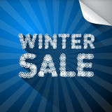 Vector Winter Sale Title Royalty Free Stock Photography