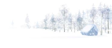 Free Vector Winter Scene. Stock Images - 103550884