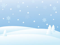 Vector Winter Scene Royalty Free Stock Photography