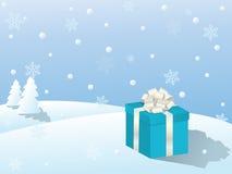 Vector winter scene Stock Photo