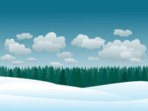 Vector winter scene Stock Image