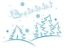 Vector winter scene Stock Photos