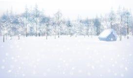 Vector winter scene. stock illustration