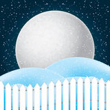 Vector of winter scene, white snow and blue sky. Stock Images