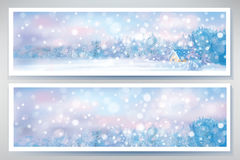 Vector of winter  snow scene  banners. Stock Images