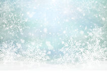 Vector winter snowy background. Royalty Free Stock Photography