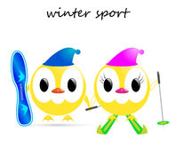 Vector winter sport Royalty Free Stock Photo