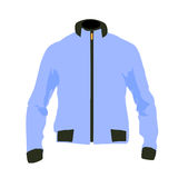 Vector winter sport jacket. Illustration of a sportswear snow jacket Royalty Free Stock Photos