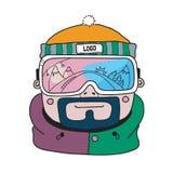 Vector winter sport snowboarding illustration.  Stock Images