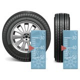 Vector winter tire Stock Photo
