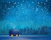 Vector winter wonderland background. stock illustration