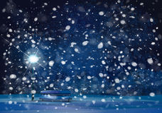 Vector winter wonderland night background. Stock Image