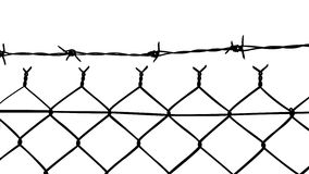 Vector of wired fence with barbed wires Stock Photography