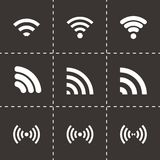 Vector wireless icon set Royalty Free Stock Photography