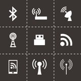 Vector wireless icon set Stock Photography