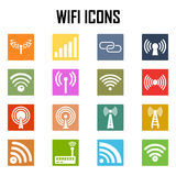 Vector  wireless icons set . Stock Photos
