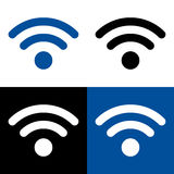 Vector wireless and wifi icon or sign Stock Photos