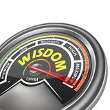 Vector wisdom conceptual meter indicator Royalty Free Stock Photo
