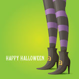 Vector witch legs halloween background Royalty Free Stock Image