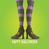 Vector witch legs halloween background Royalty Free Stock Photography