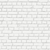 Vector witte bakstenen muur naadloze textuur Abstract architectuur en zolderbinnenland, achtergrond Stock Fotografie