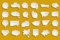 Vector Witte Geplaatste Toespraakbellen Royalty-vrije Stock Afbeelding