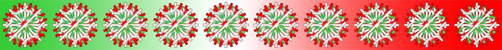 Vector witte rode groene die Kerstmis speelt achtergrond met kleuren mee door de Italiaanse vlag, als bar, banner, grens, enz. wo royalty-vrije stock foto