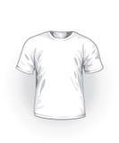 Vector. Witte t-shirt stock illustratie