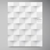 Vector witte vierkanten. Samenvatting backround Stock Afbeeldingen