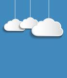 Vector witte wolken Stock Fotografie