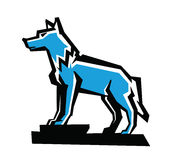 Vector wolf emblem Stock Images