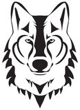 Vector Wolf Head Silhouette Isolated On White Background Stock Photos