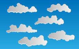 Vector wolken Royalty-vrije Stock Afbeelding