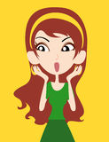 Vector woman Royalty Free Stock Photography