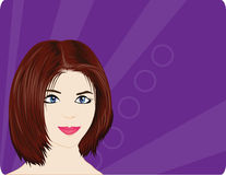 Vector woman Stock Photography