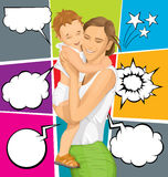 Vector Woman With Child Royalty Free Stock Photo