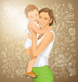 Vector Woman With Child Royalty Free Stock Image
