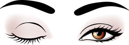 Vector woman eyes Stock Photo