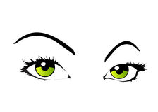 Vector woman eyes isolated